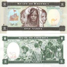 Billetes extranjeros: ERITREA. 1 NAKFA. 1997. P-1. SC. Lote 295516618