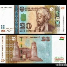 Billetes extranjeros: TAJIKISTAN 20 SOMONI 2018 SC / UNC. Lote 295525398