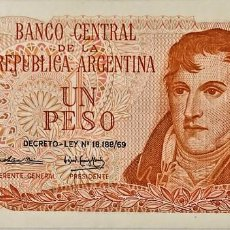 Billetes extranjeros: ARGENTINA - 1 PESO (1974) - DECRETO LEY 18.188-69 - 53.932.515 E - FIRMAS CAIROLI-GOMEZ MORALES. Lote 295546763
