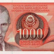 Billetes extranjeros: YUGOSLAVIA 1000 DINARA 1990 PICK 107A S/C UNC. Lote 295619463