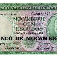 Billetes extranjeros: BILLETE DE MOZAMBIQUE DE 100 ESCUDOS EN PERFECTO ESTADO. Lote 295620363