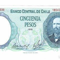 Billetes extranjeros: CHILE 50 PESOS 1981 PICK 151B SIN CIRCULAR. Lote 295740753