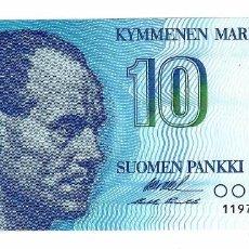 Billetes extranjeros: FINLANDIA 10 MARKKA 1986 PICK 113A SIN CIRCULAR. Lote 295741008