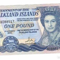 Billetes extranjeros: ISLAS MALVINAS ( FALKLAND ISLANDS) 1 POUND 1984 PICK 13A.. Lote 295849573