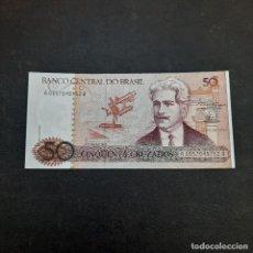 Billetes extranjeros: BILLETE DE 50 CRUZADOS DE BRASIL.SIN CIRCULAR! ORIGINAL%. Lote 295850213