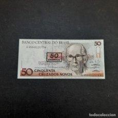Billetes extranjeros: BILLETE DE 50 CRUZADOS DE BRASIL.SIN CIRCULAR! ORIGINAL%. Lote 295850868