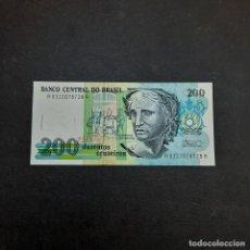 Billetes extranjeros: BILLETE DE 200 CRUZADOS DE BRASIL.SIN CIRCULAR! ORIGINAL%. Lote 295851068