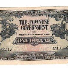 Billetes extranjeros: MALAYA 1 DOLLAR 1942 PICK M5C SIN CIRCULAR. Lote 295851948
