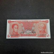 Billetes extranjeros: BILLETE DE 5 BOLIVARES DE VENEZUELA DEL AÑO 1989.S/C. Lote 295862513