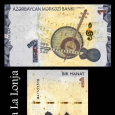 Billetes extranjeros: AZERBAIYAN AZERBAIJAN 1 MANAT 2020 (2021) PICK NUEVO SC UNC. Lote 295868703