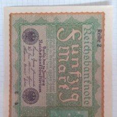 Billetes extranjeros: 50 REICHSBANKNOTE 1919 ALEMANIA. Lote 295987093