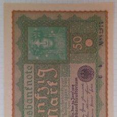Billetes extranjeros: 50 REICHSBANKNOTE 1919 ALEMANIA. Lote 295987588