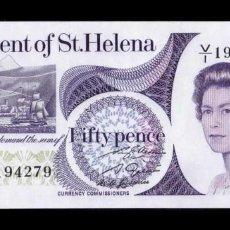 Billetes extranjeros: SANTA HELENA 50 PENCE ELIZABETH II 1979 PICK 5 SC UNC. Lote 296630983