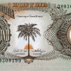 Billetes extranjeros: BIAFRA 1 POUND 1968/1969 PICK 5A S/C UNC. Lote 296777548
