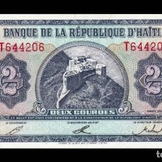 Billetes extranjeros: HAITÍ 2 GOURDES 1992 PICK 260 SC UNC. Lote 296777928