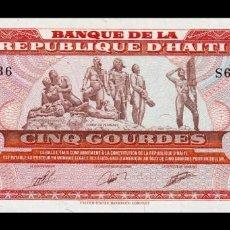 Billetes extranjeros: HAITÍ 5 GOURDES 1989 PICK 255 SC UNC. Lote 296778888