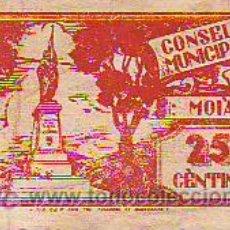 Billetes locales: BITLLET - MOIÀ 25 CÈNTIMS CAT/M. Lote 4619748