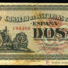 Billetes locales: 2 PESETAS 1936 ASTURIAS Y LEON MBC+. Lote 22374911