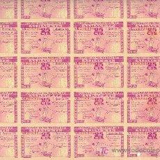 Billetes locales: HOJA 25 BILLETES 25 CÉNTIMOS 8 NOVIEMBRE 1937 CONSEJO MUNICIPAL DE ALBACETE. Lote 23477857