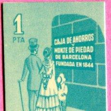 Billetes locales: PESETA DE CURSO LEGAL EN BARCELONA-ORIGINAL-DE LA EPOCA DE LA TRANSICIÓN-FABRICADA POR LA CAIXA DE B. Lote 26373595