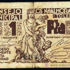 Billetes locales: LOS NAVALMORALES (TOLEDO) : 1 PESETA 1937 MBC-. Lote 18306811