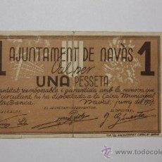 Billetes locales: NAVAS JUNIO 1937 1 PESETA GUERRA CIVIL. Lote 19296539