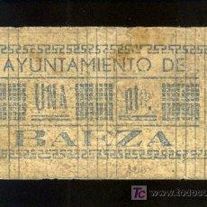 Billetes locales: BILLETE LOCAL DE 1 PESETA DEL AYUNTAMIENTO DE BAEZA, JAEN. . Lote 24080190