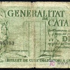 Billetes locales: CATALUNYA : 10 PESETAS 25 SEPTIEMBRE 1936 MBC-. Lote 27598783