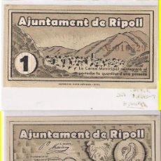 Billetes locales: L14-RIPOLL. PESETA. 1937. SIN CIRCULAR. Lote 22932569