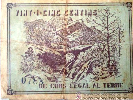 Billetes locales: Consell Municipal Vilada 25 cts Guerra Civil Raro - Foto 4 - 17519233
