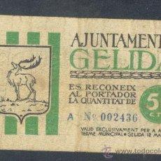Billetes locales: 50 CTMOS DEL AYUNTAMENT DE GELIDA. Lote 22850302