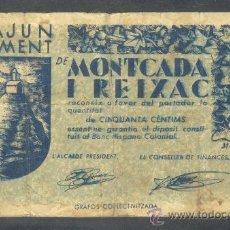 Billetes locales: 50 CTMS DEL AJUNTAMENT DE MONTCADA I REIXAC. Lote 23085588
