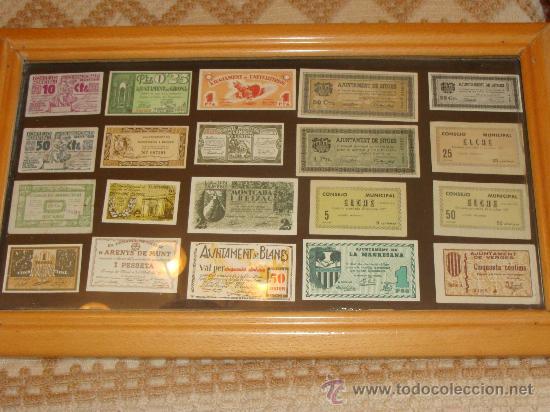 20 billetes locales de espa a a os 30 blanes comprar - Cuadros online espana ...