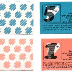 Billetes locales: 2 VALES BANCA CATALANA. BANC BARCELONA GIRONA MERCANTIL MANRESA INDUSTRIAL CATALUNYA AÑOS 70 VALE. Lote 51103865