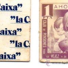 Billetes locales: VALE 1 PESETA CAJA PENSIONES. LA CAIXA. AHORRO POPULAR Y ESCOLAR. AÑOS 1970.. Lote 177858125