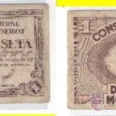 Billetes locales: L246-BILLETE LOCAL. OLESA DE MONTSERRAT. PESETA. 1937. MBC-. Lote 28957903