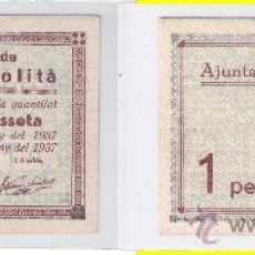 Billetes locales: L261-BILLETE LOCAL. PALAU-SOLITÀ. PESETA. 1937. ESCASO. MBC.. Lote 29038415