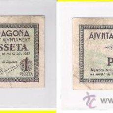 Billetes locales: L352-BILLETE LOCAL. TARRAGONA. PESETA. 1937. MBC+. Lote 29068662