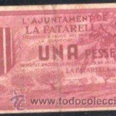 Billetes locales: BILLETE DE UNA PESETA DEL AYUNTAMIENTO DE LA FATARELLA. Lote 29570426