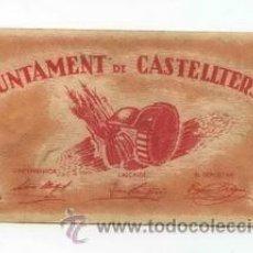 Billetes locales: BILLETE LOCAL DE CASTELLTERSOL 1 PESETAS - 1937. Lote 29918477
