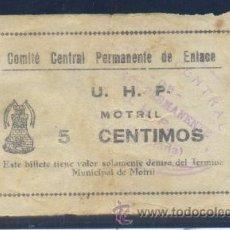 Billetes locales: MOTRIL (GRANADA). Lote 30268861