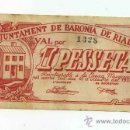 Billetes locales: BILLETE LOCAL DE BARONIA DE RIALB 1 PESETA. Lote 30680726