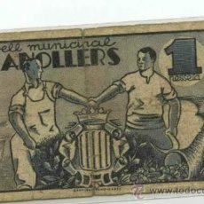 Billetes locales: GRANOLLERS 1 PTS. Lote 31067872