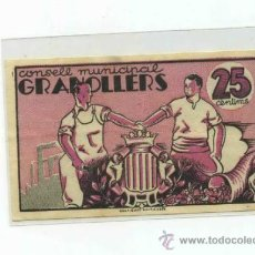 Billetes locales: GRANOLLERS 0,25 PTS. Lote 31067881