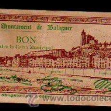 Billetes locales: BILLETE DE 50 CENTIMOS DE AJUNTAMENT DE BELEGUER. . Lote 31067513