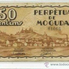 Billetes locales: PERPÈTUA DE MOGUDA 0,50 PTA. Lote 31260827