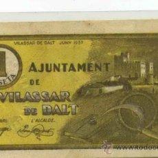 Billetes locales: VILASSAR DE DALT 1 PTA // GUERRA CIVIL ESPAÑOLA. Lote 31355620