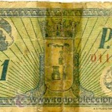 Billetes locales: CONSEJO MUNICIPAL DE ALBACETE. 1 PESETA. Lote 37134977