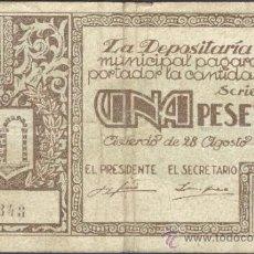 Billetes locales: BILLETE LOCAL GRAUS (HUESCA) 1 PESETA. Lote 36489380