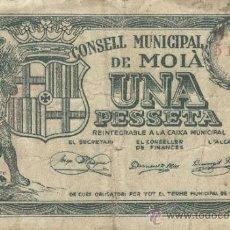 Billetes locales: BILLETE LOCAL MOIÀ (BARCELONA) 1 PESETA. Lote 36502312